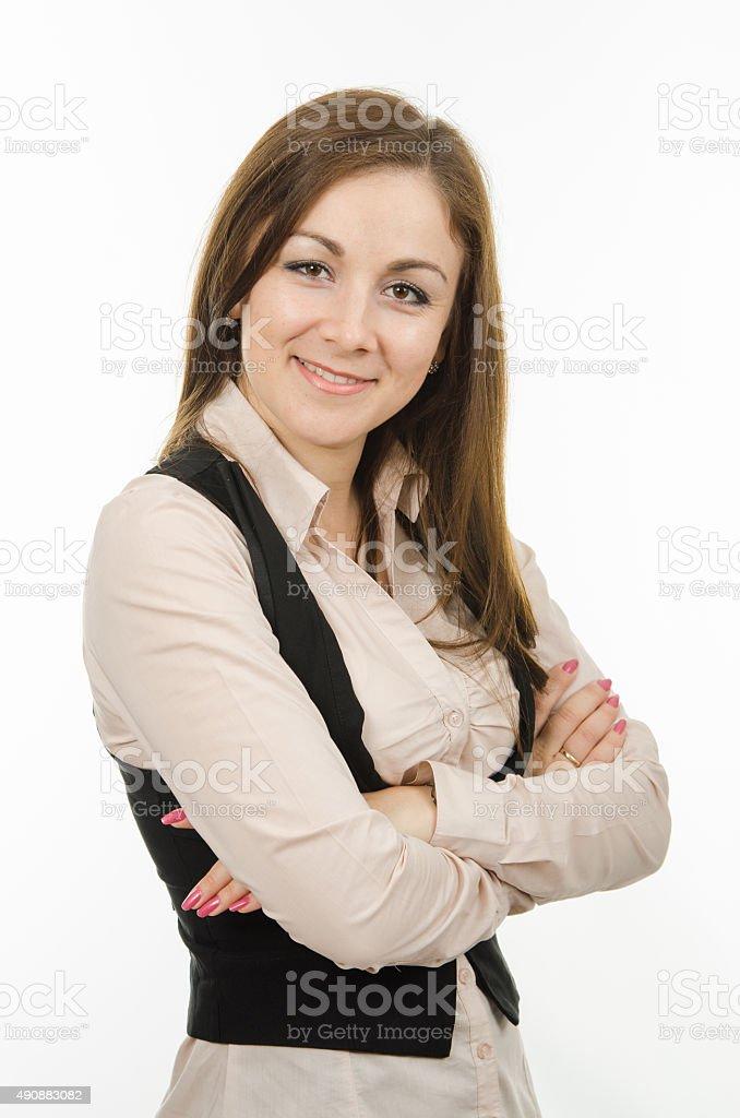 Half-length portrait of successful women stock photo