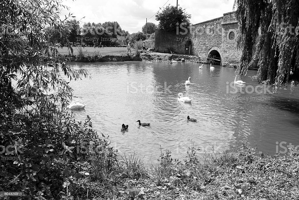 Halfpenny ponte, Gloucestershire.  Inghilterra foto stock royalty-free