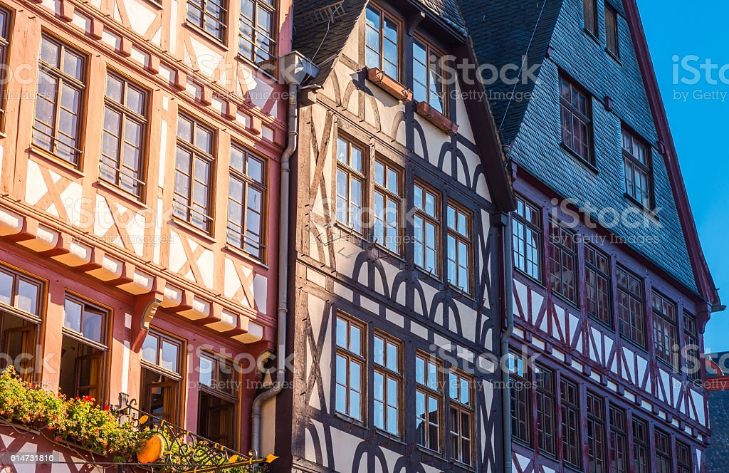 half-timber houses, Old city, Frankfurt stock photo