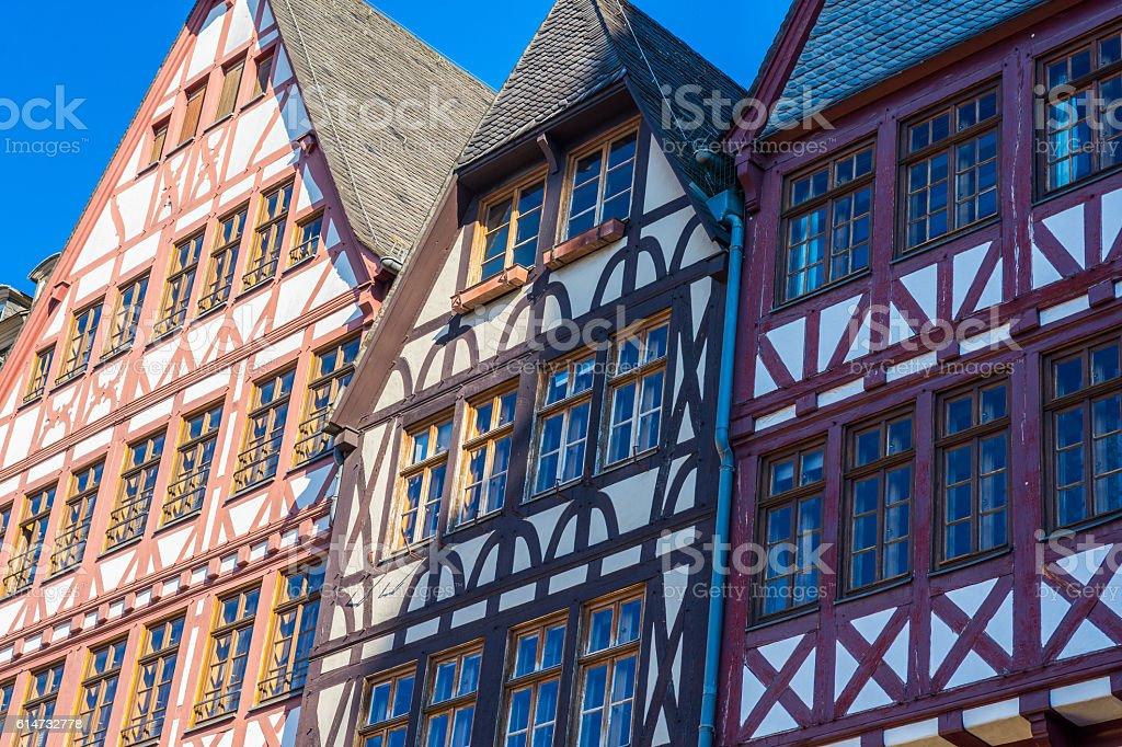 half-timber houses, Old city, Frankfurt stock photo