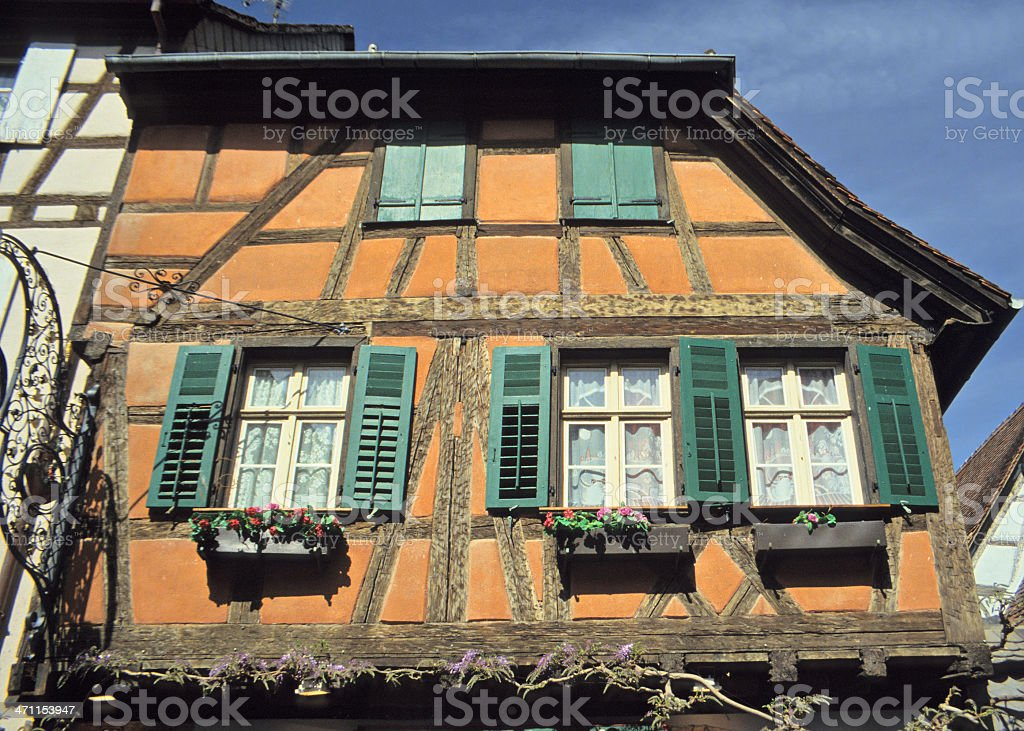 Half-Timbered Architecture royalty-free stock photo