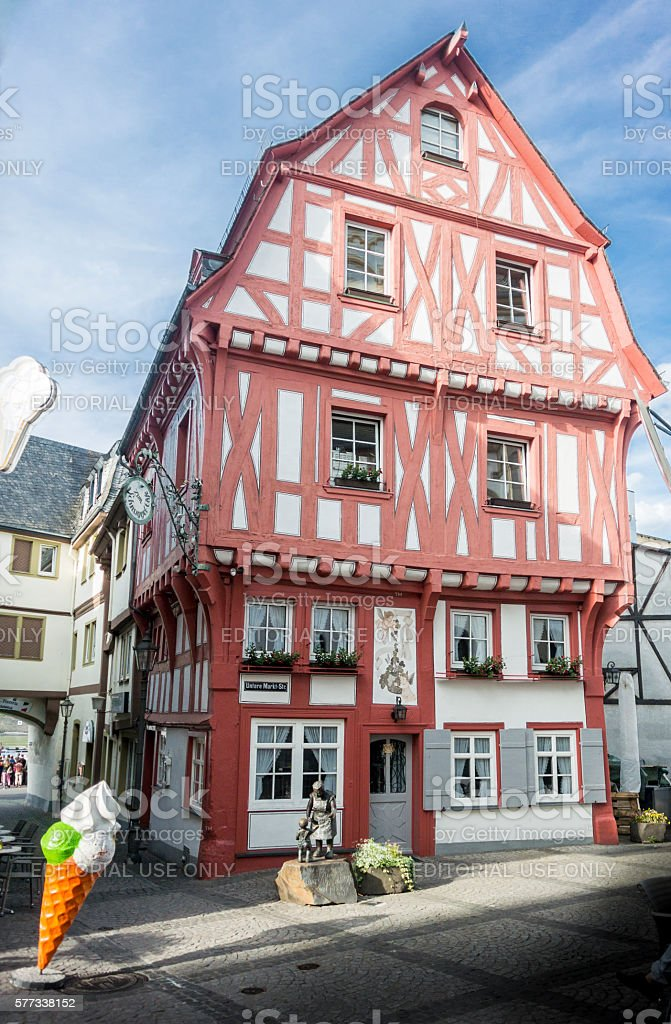Half-Timbered building in Boppard, Germany stock photo