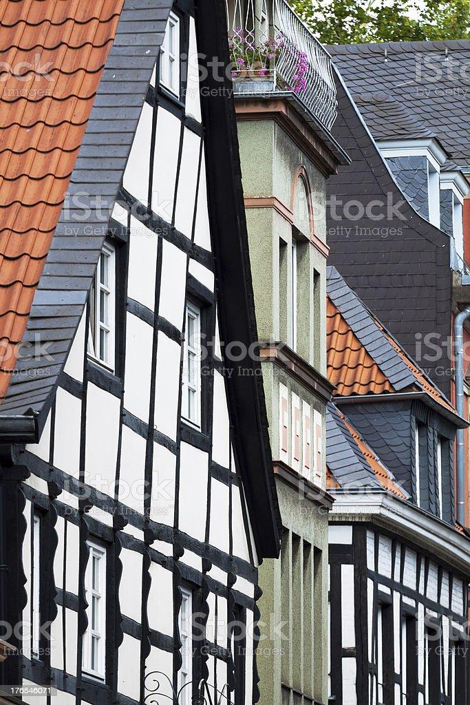 Half-timbered facades royalty-free stock photo