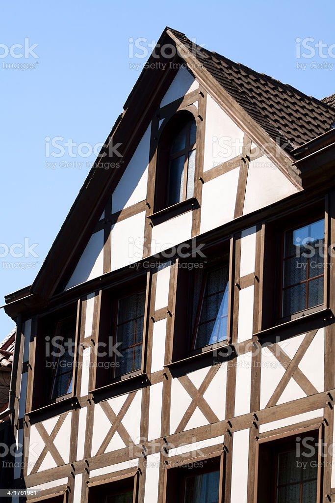 Half-timbered gable and facade royalty-free stock photo