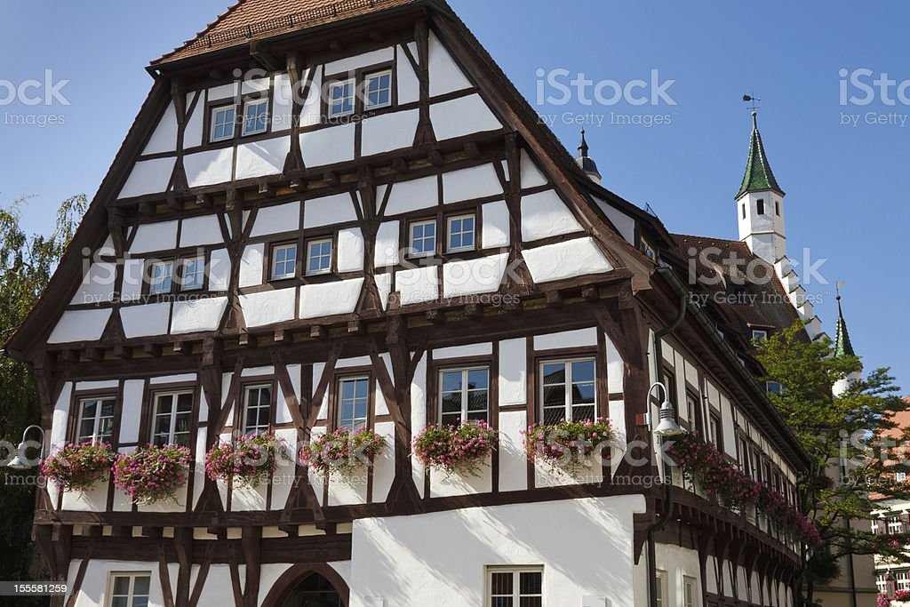 Half-Timbered House in Germany stock photo