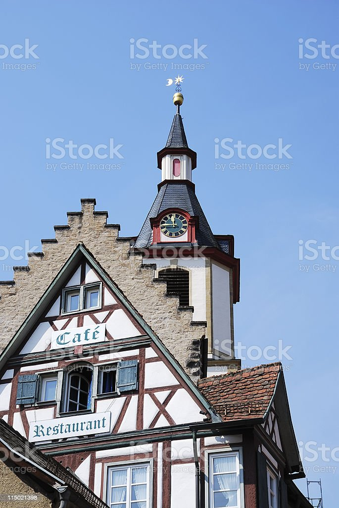 Halftimbered house stock photo