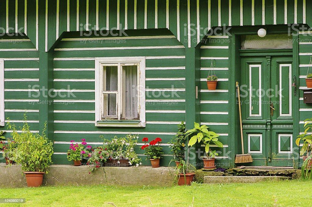 half-timbered house stock photo