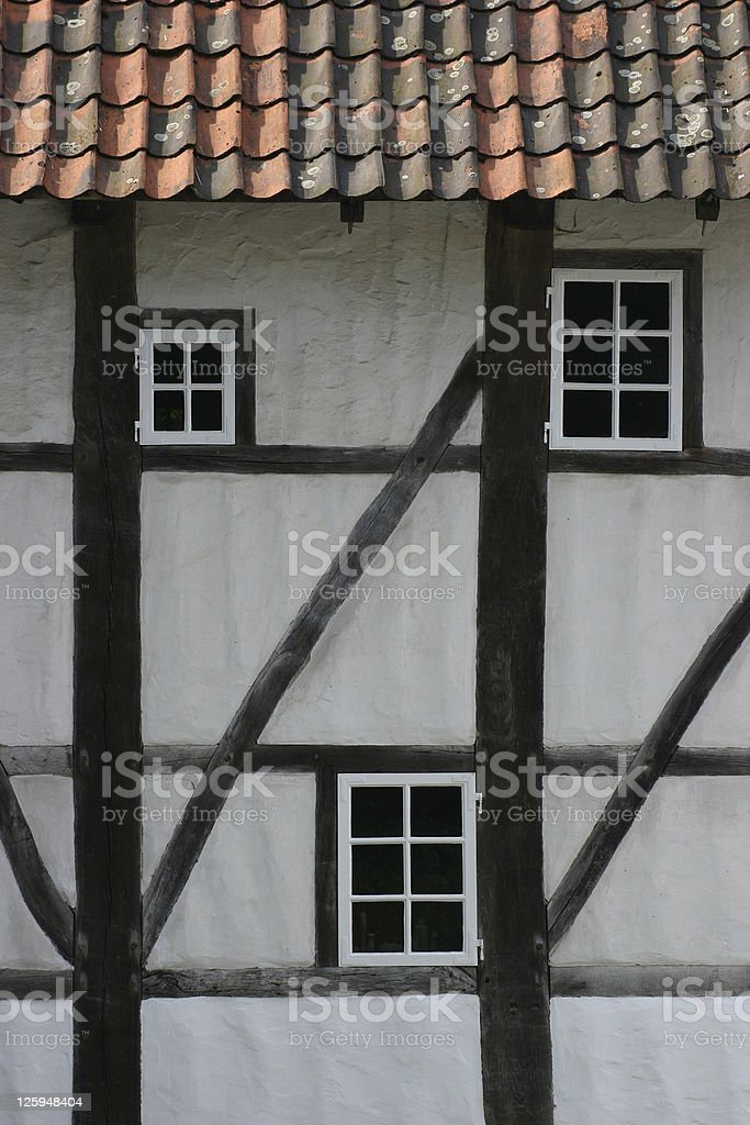 Half-timbered house royalty-free stock photo