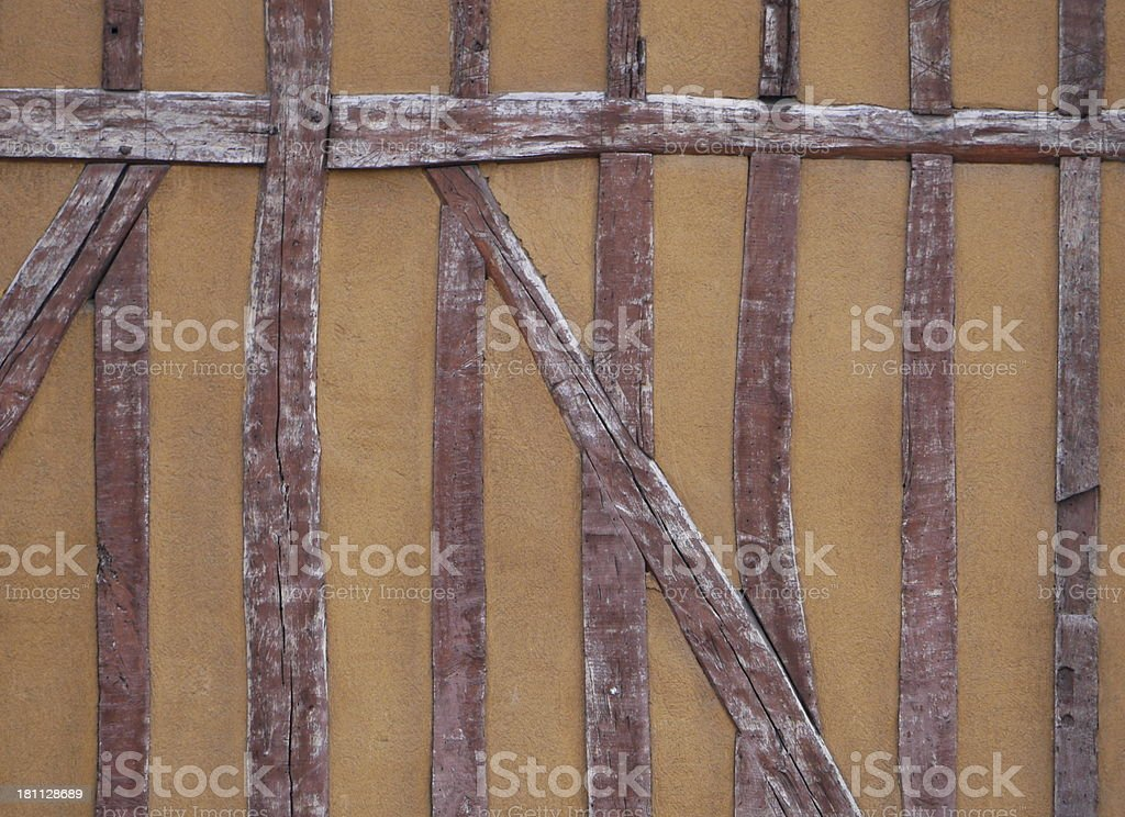 half-timbered house, Troyes, France stock photo
