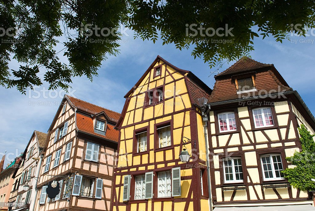 Half-timbered Houses, Europe royalty-free stock photo