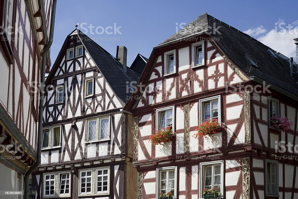 Half-timbered houses stock photo