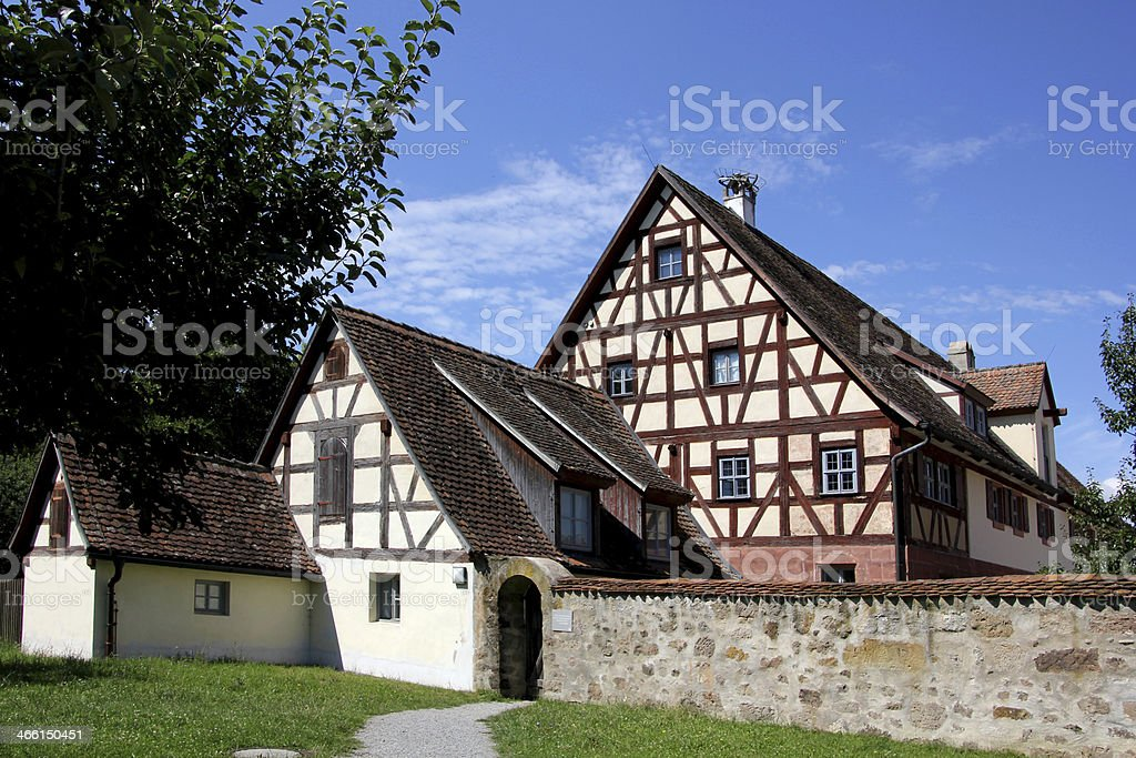 Halftimbered houses stock photo