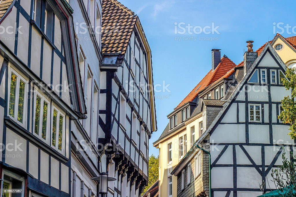 half-timbered houses royalty-free stock photo