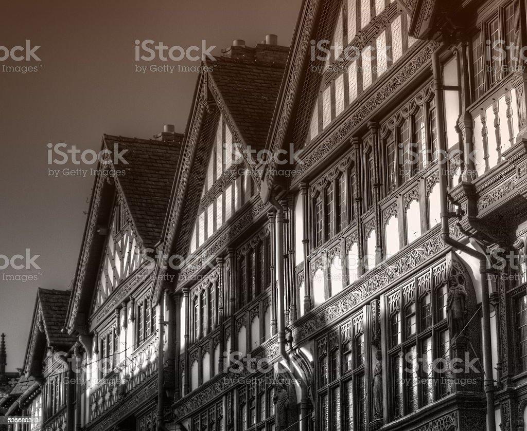 Half-timbered stock photo