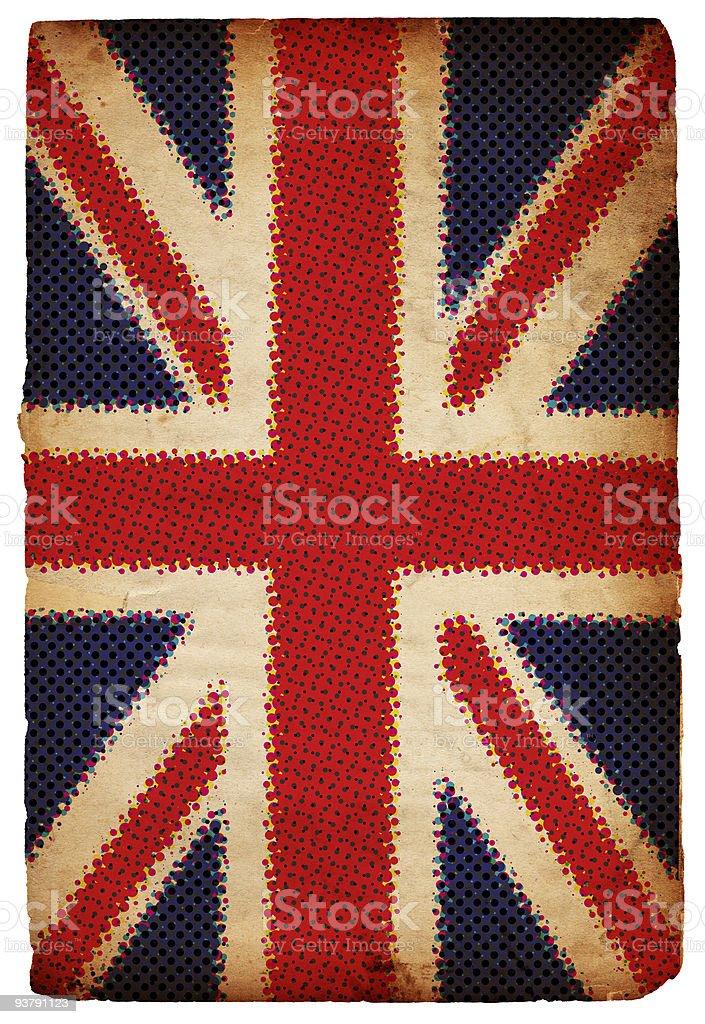 Halftone British Flag XXL stock photo