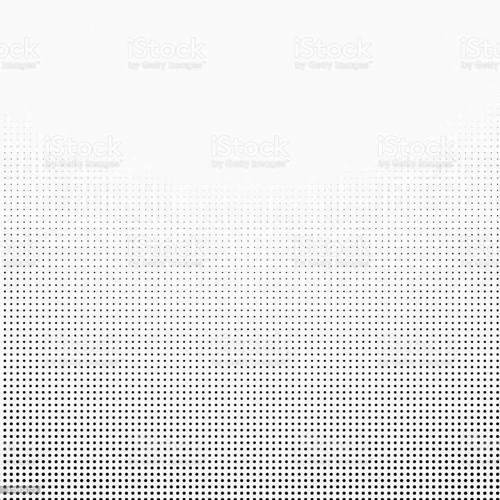 halftone dotted gradient  background black white stock photo