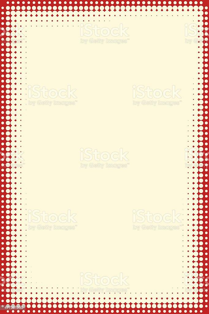 Halftone frame stock photo