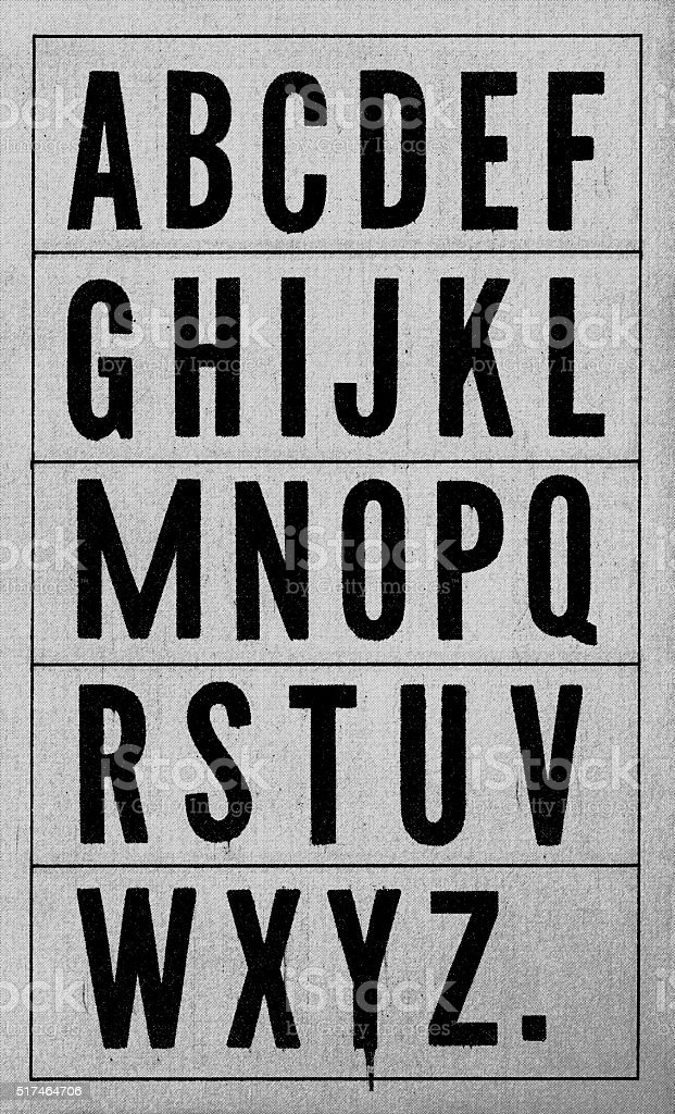 Halftone Vintage Newspaper Typography stock photo