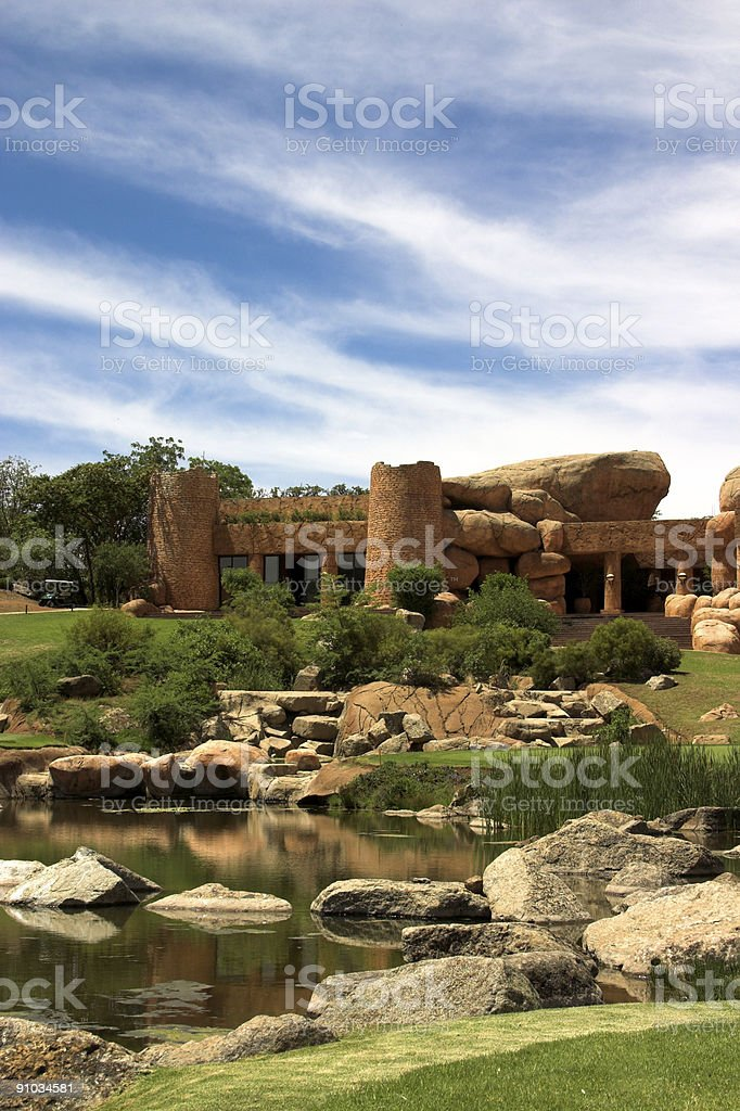 Halfway house on the golf course. royalty-free stock photo