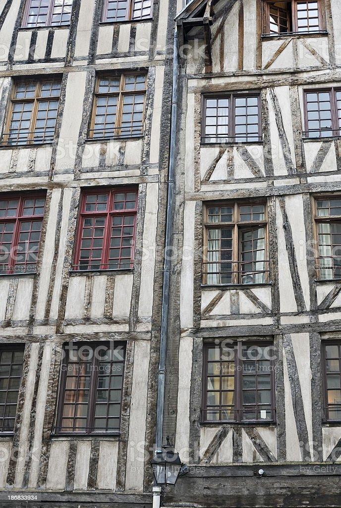 Half-wood houses in Paris royalty-free stock photo