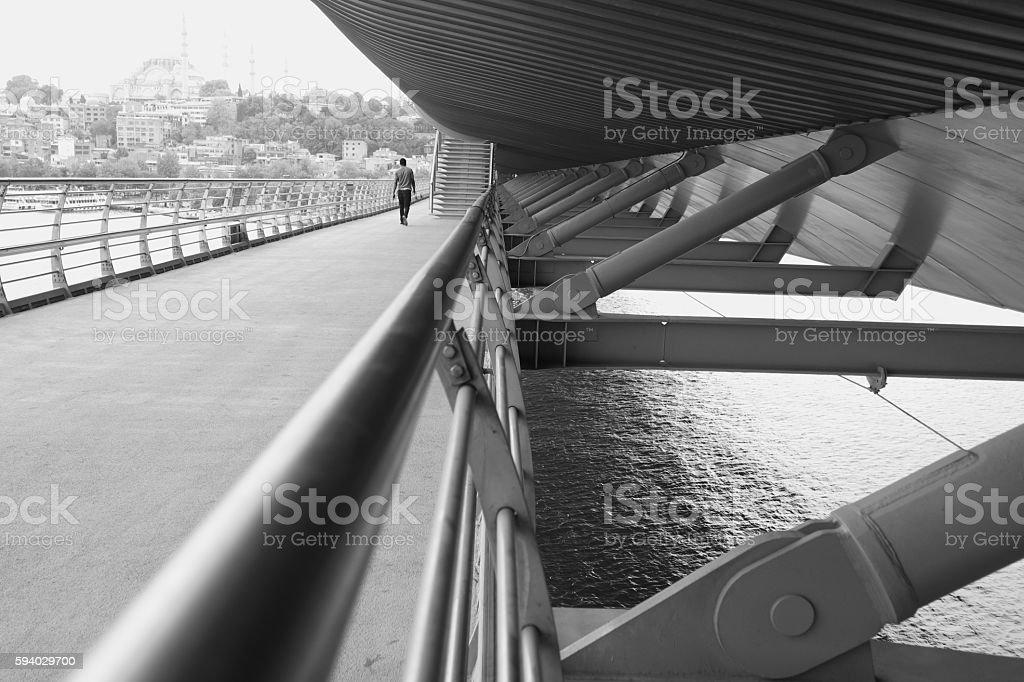 Haliç Metro Bridge stock photo