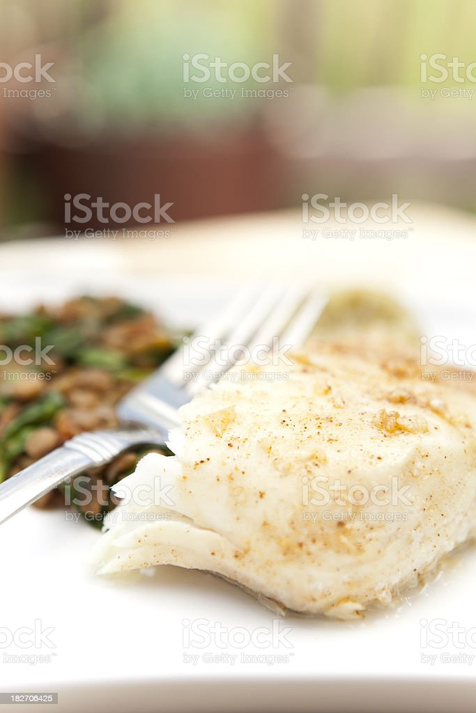 halibut lunch royalty-free stock photo