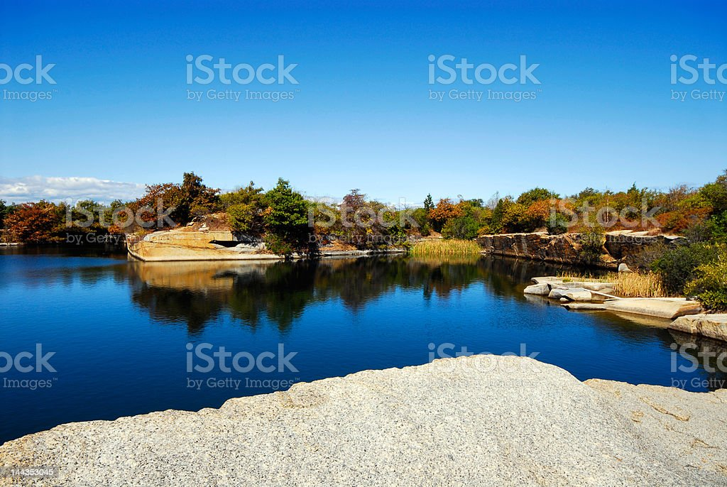 Halibut Point Granite Quarry stock photo
