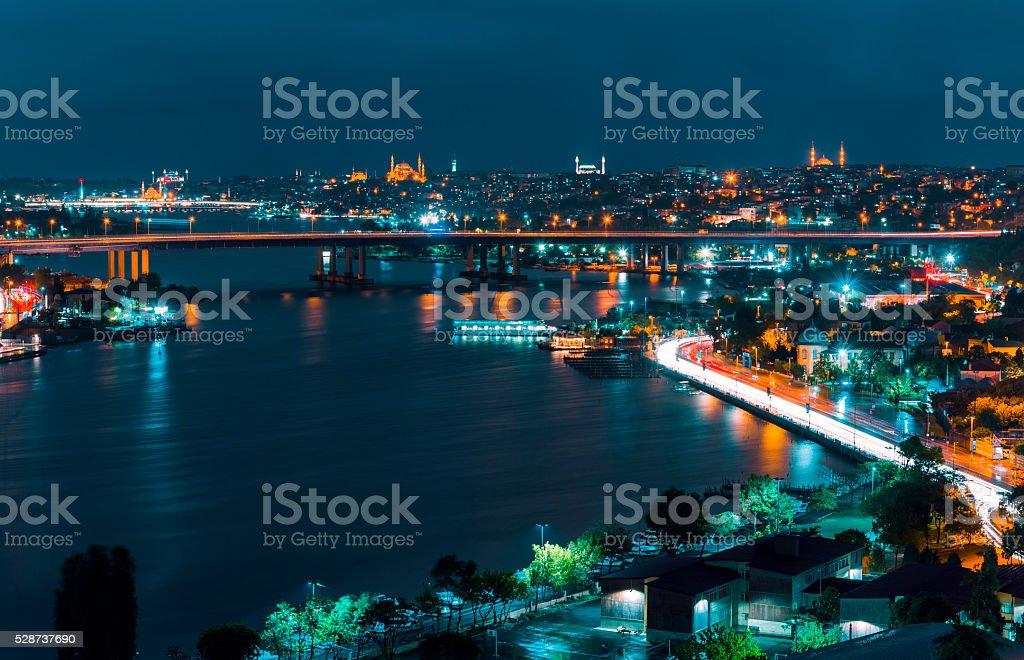 Halic bridge stock photo