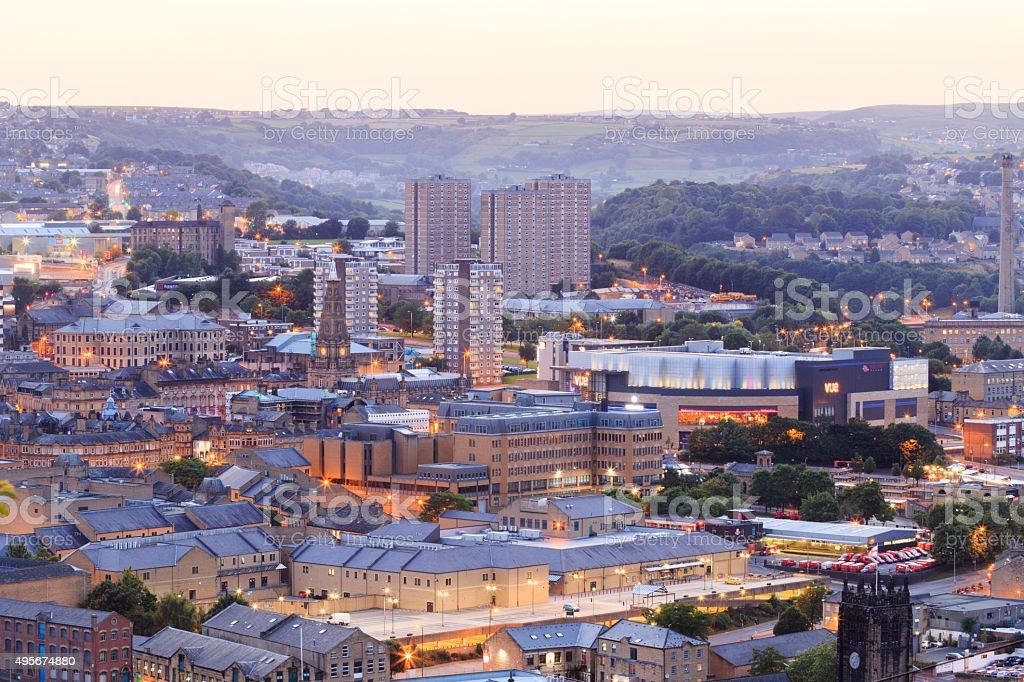Halifax at dusk stock photo