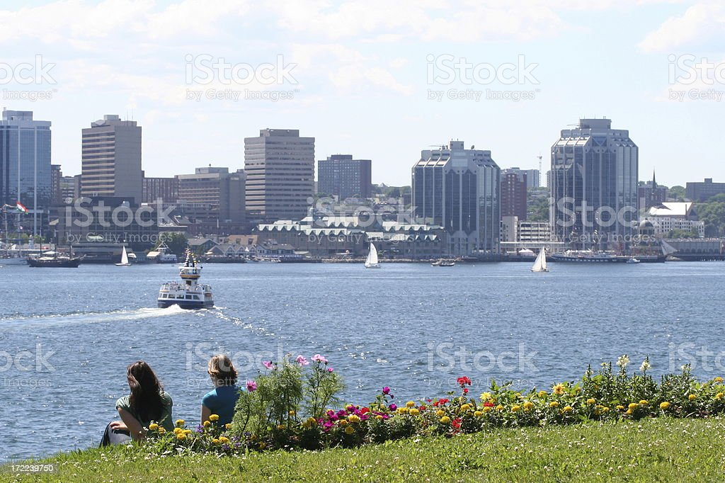 Halifax Harbor On A Summer Day royalty-free stock photo