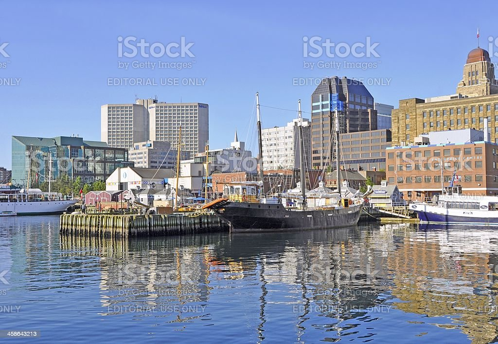 Halifax harbour stock photo