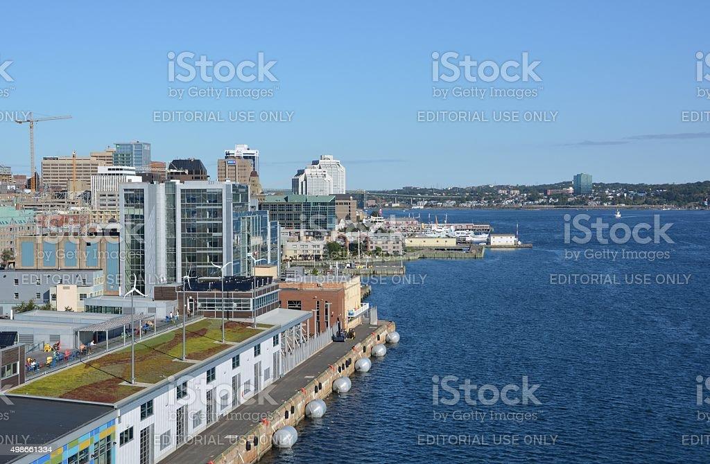 Halifax harbour stock photo