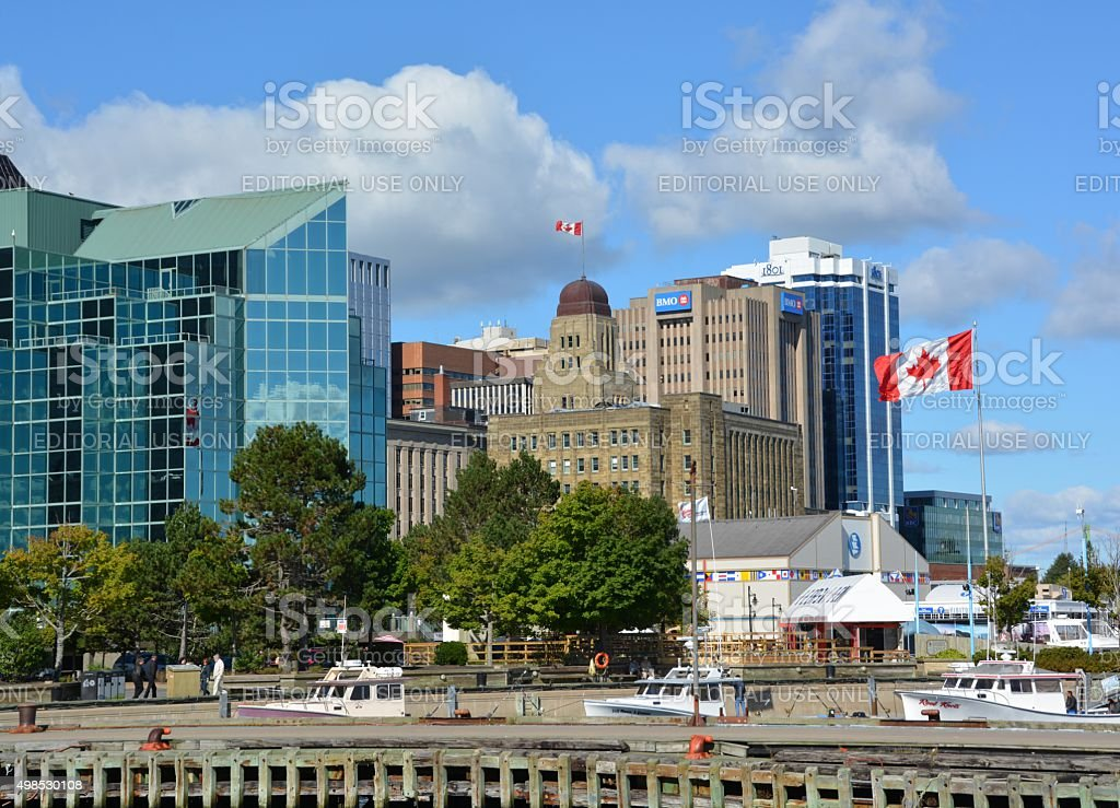 Halifax Harbourfront stock photo