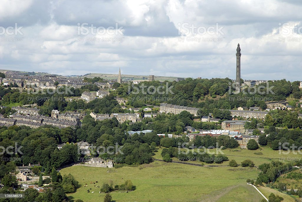 Halifax landmark Wainhouse tower stock photo