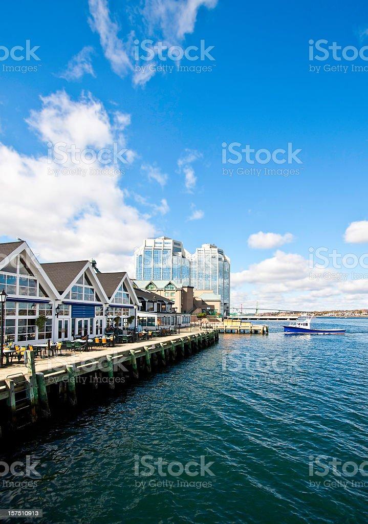 Halifax Nova Scotia Waterfront stock photo