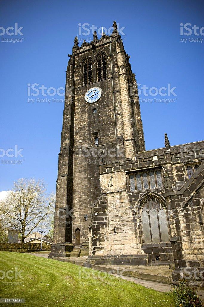 Halifax Parish Church West Yorkshire royalty-free stock photo