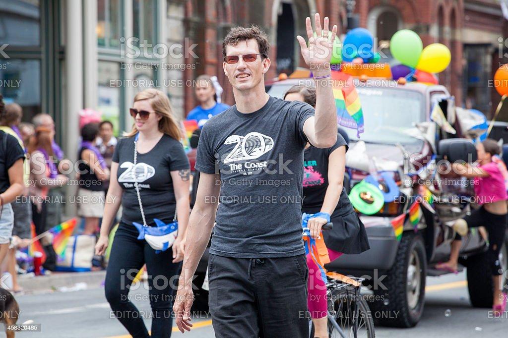Halifax Pride Parade Group royalty-free stock photo