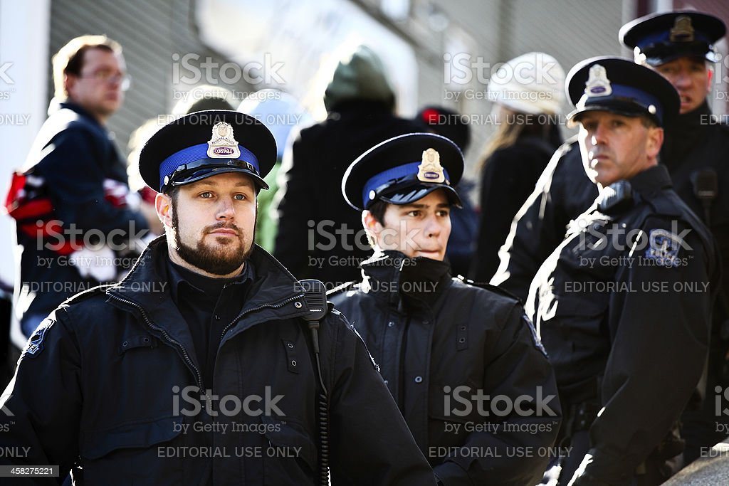 Halifax Regional Police Officers royalty-free stock photo