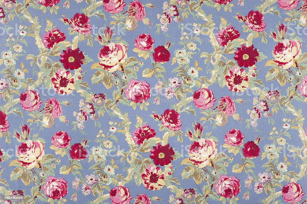 Halifax Rose Antique Floral Fabric stock photo