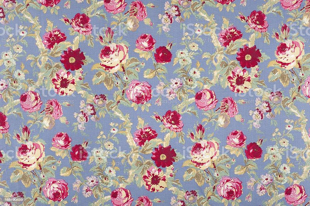Halifax Rose Antique Floral Fabric stock photo