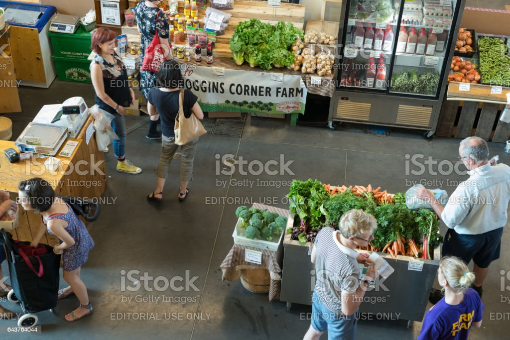 Halifax Seaport Market stock photo