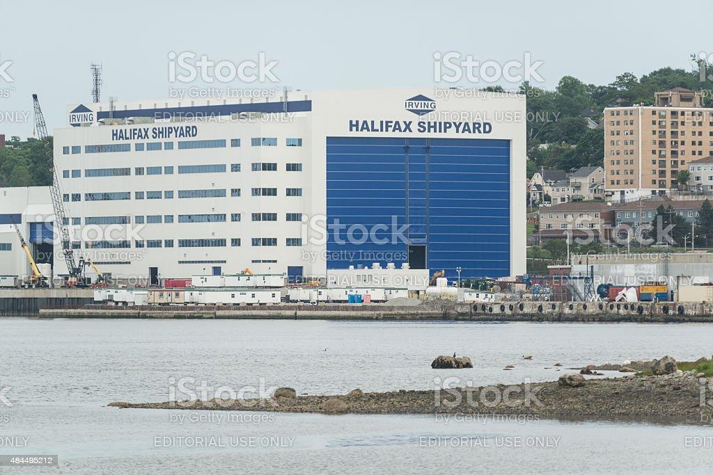 Halifax Shipyard stock photo