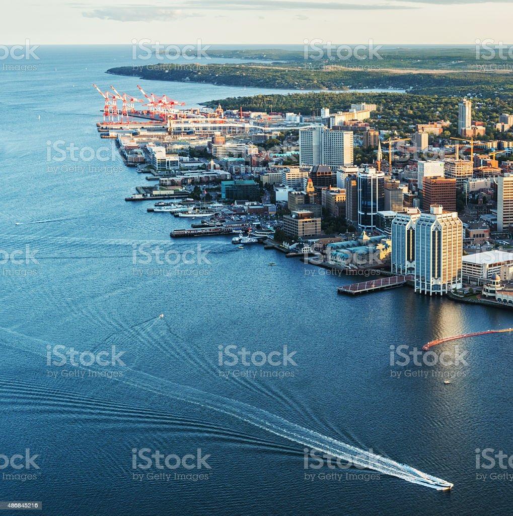 Halifax Skyline Aerial stock photo