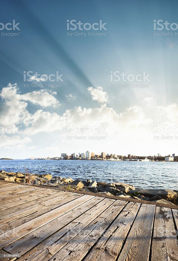 halifax skyline stock photo
