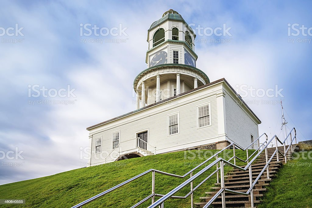 Halifax Town Clock, Canada stock photo