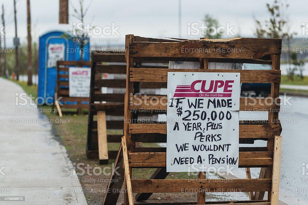 Halifax Water Commission Strike stock photo