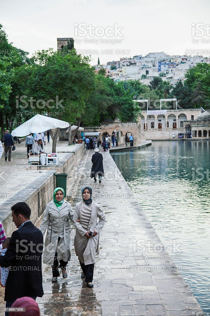 Halil-ur Rahman Mosque and Holy Lake stock photo