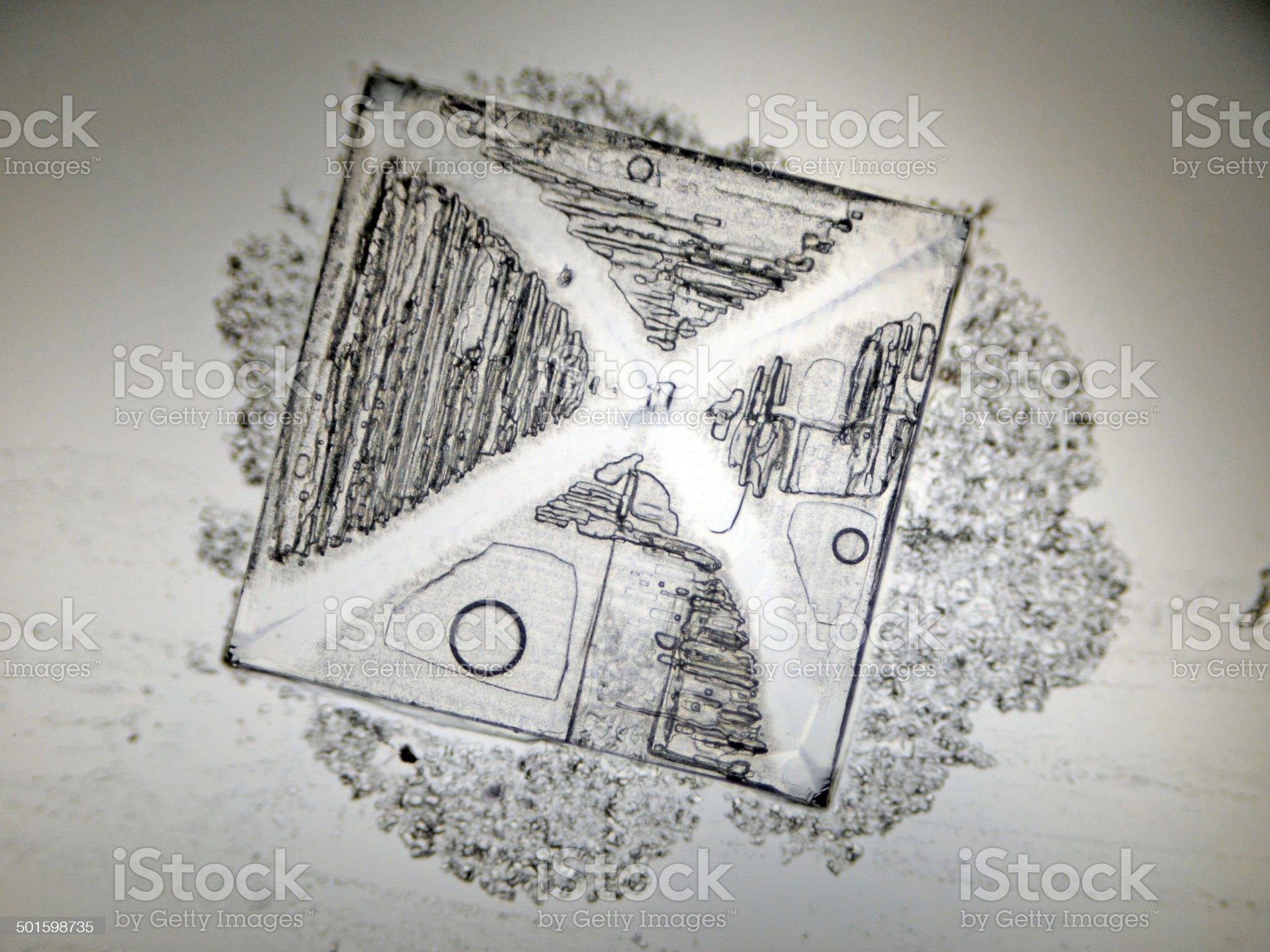 halite crystal royalty-free stock photo