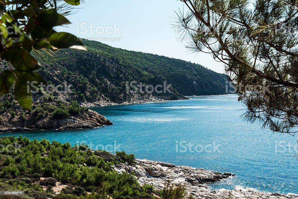 Halkidiki peninsula in Greece stock photo