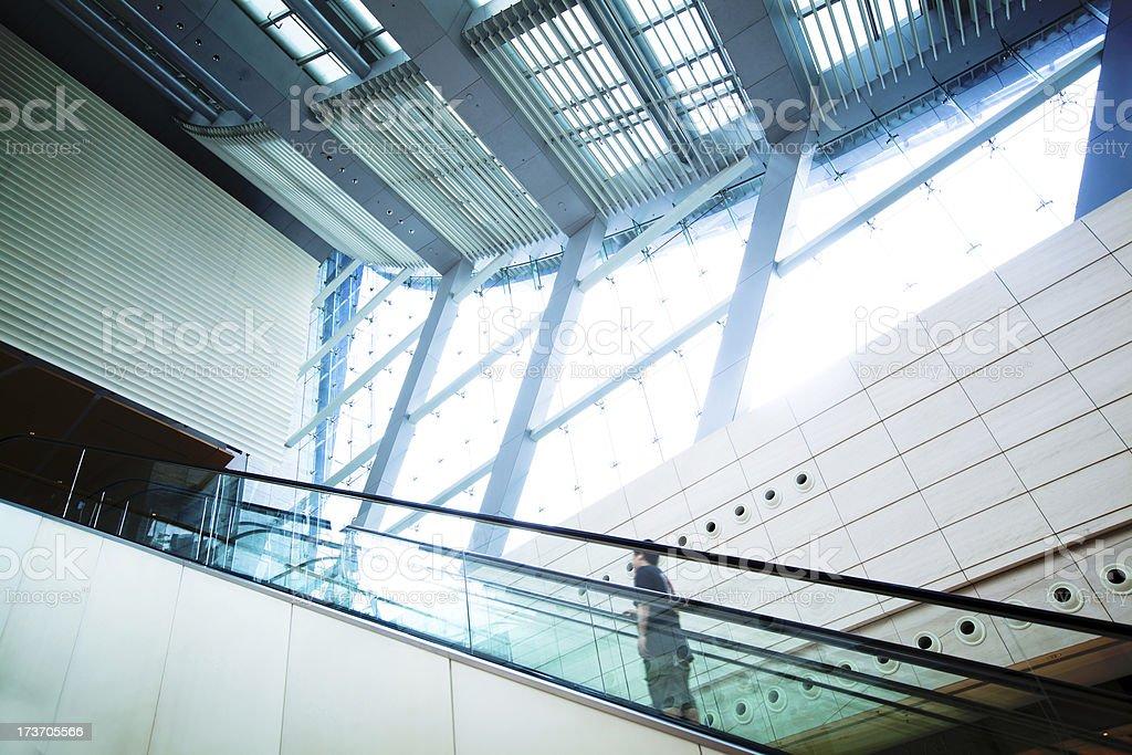 hall at airport in Hong Kong royalty-free stock photo